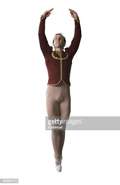 Male ballet dancer performing ballet