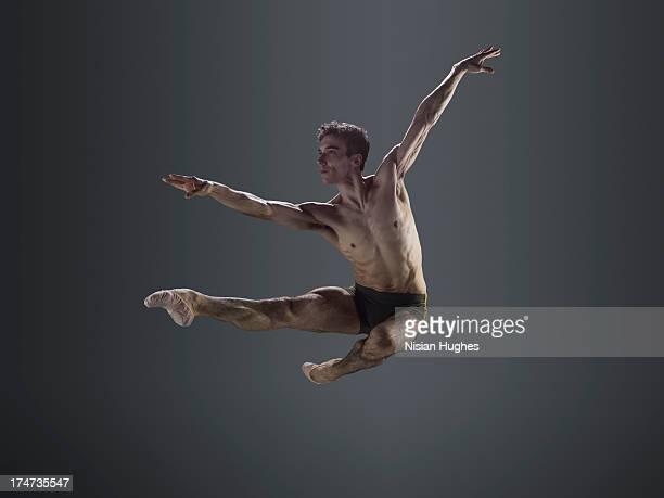 Male Ballet dancer performing Italian pas de chat