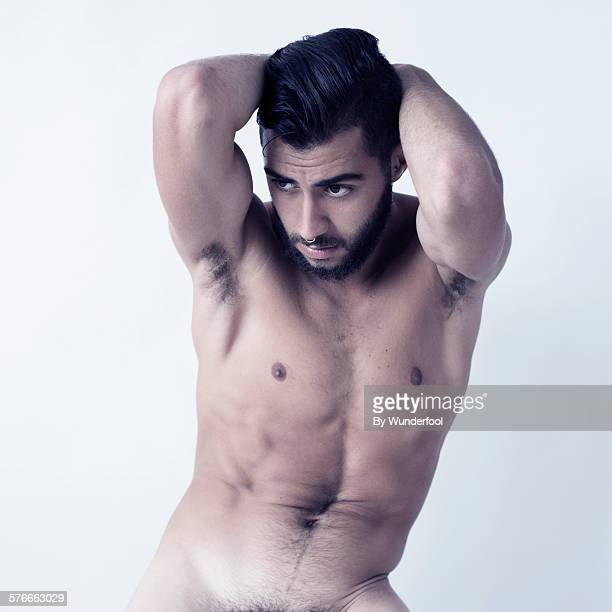 Male bearded dancer posing