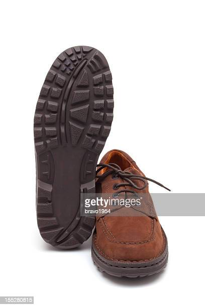 Male brown suede shoes