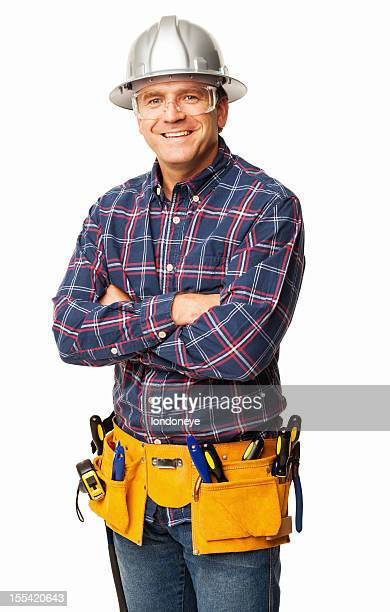 Male Carpenter With Tool belt - Isolated