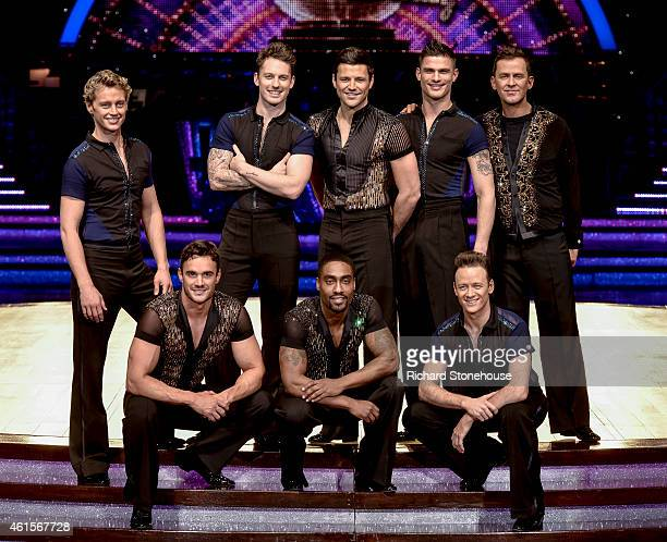 Male Celebrities dancers attend a photocall to launch the Strictly Come Dancing Live Tour 2015 at Birmingham Barclaycard Arena on January 15 2015 in...