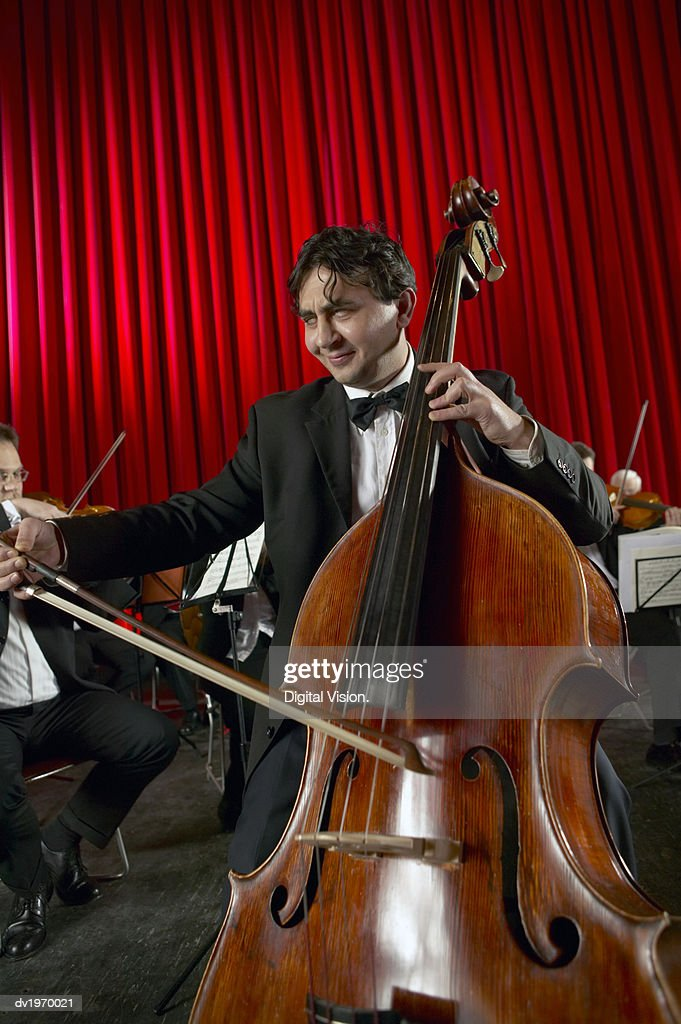 Male Cellist Performing : Stock Photo