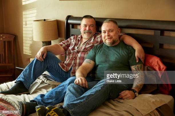 Male Couple in Bed