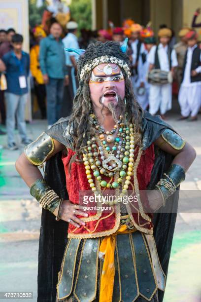 male dancer at the gangaur festival in jaipur, rajasthan, india - gangaur stock pictures, royalty-free photos & images