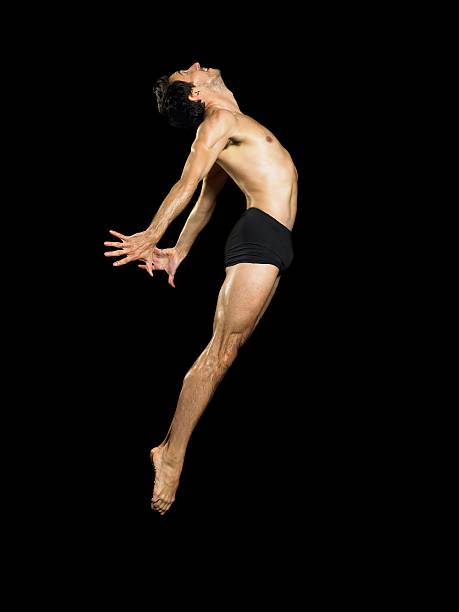 Male dancer jumping