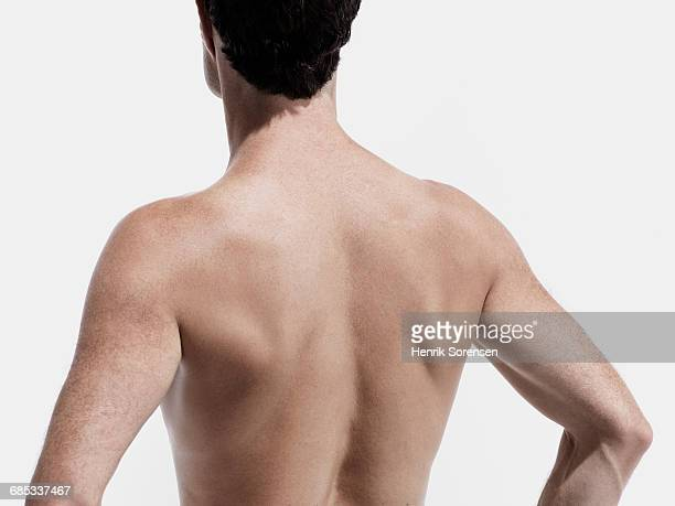male dancer on white backdrop - shirtless stock pictures, royalty-free photos & images