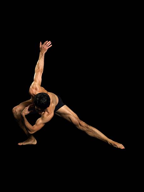 Male dancer performing
