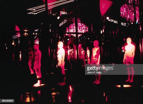 Male dancers in loincloths at Studio 54 in New York City circa 1975