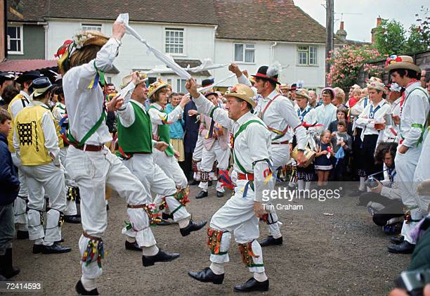 Male dancers Morris Dancing Essex United Kingdom