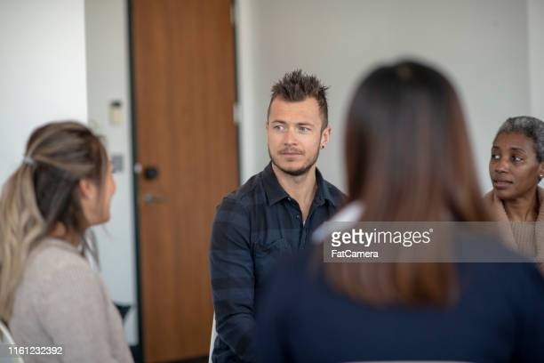 male depression - alcoholics anonymous stock pictures, royalty-free photos & images