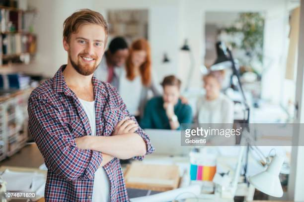 male designer - scandinavian descent stock pictures, royalty-free photos & images