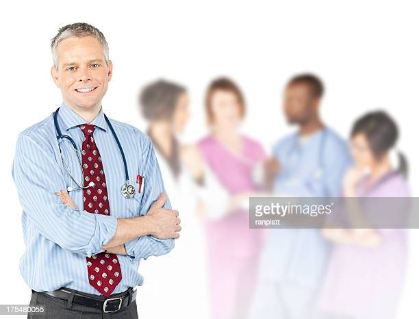 Male Doctor With Diverse Medical Team