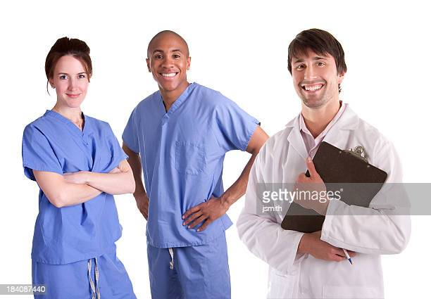Male Doctor with Nurses