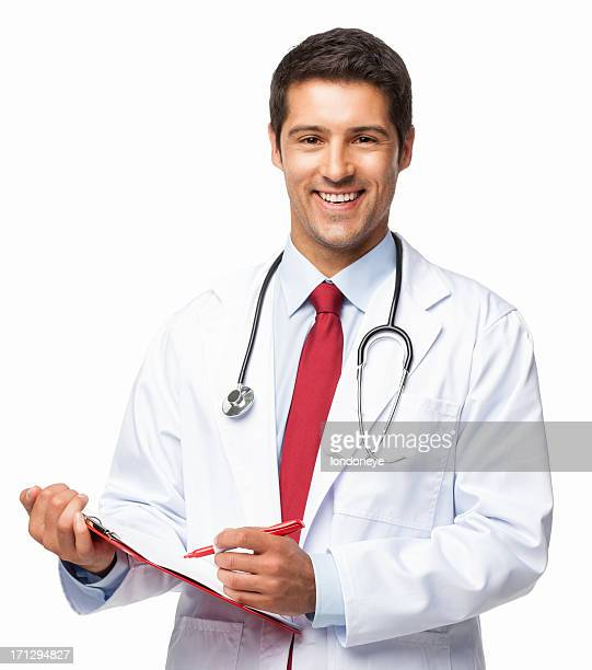 Male Doctor Writing Prescription - Isolated