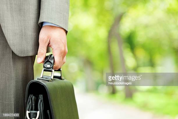 Male Executive Holding Briefcase