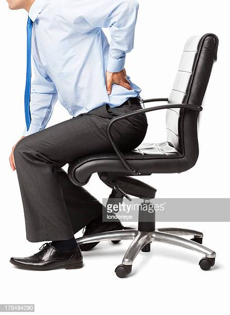 Male Executive With Backache - Isolated