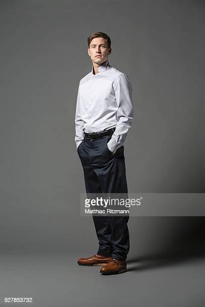 male fashion model - 襟付きシャツ ストックフォトと画像