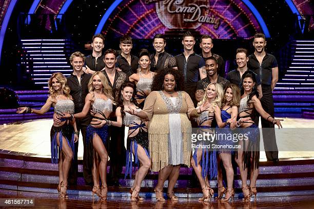 Male Female dancers Celebrities attend a photocall to launch the Strictly Come Dancing Live Tour 2015 at Birmingham Barclaycard Arena on January 15...