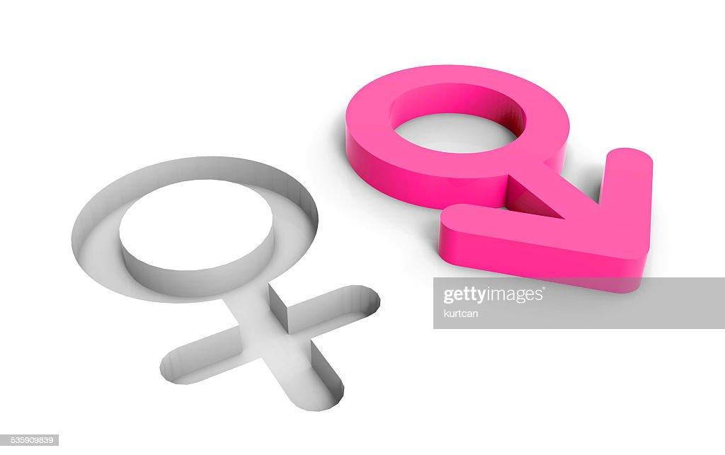 Macho sexo femenino de símbolos : Foto de stock