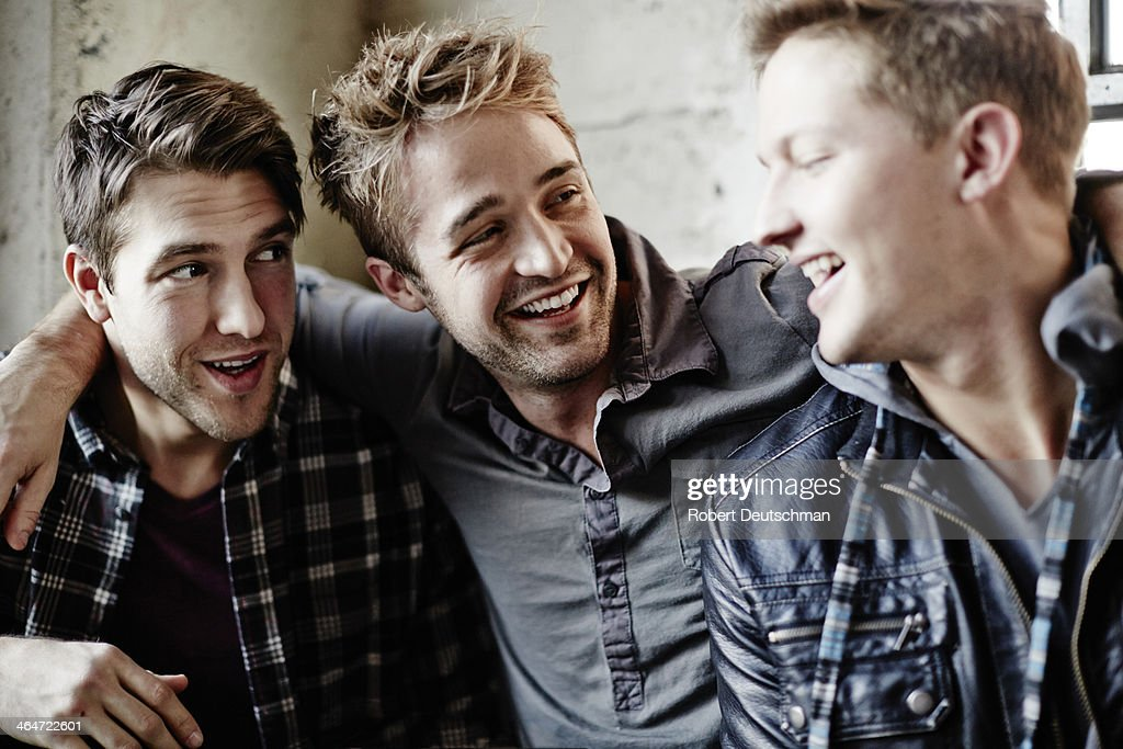 Male friends hanging out. : Stock Photo