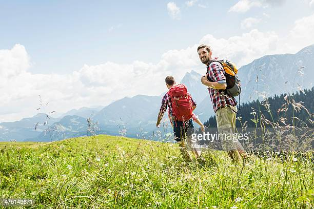 Male friends hiking, Tyrol, Austria