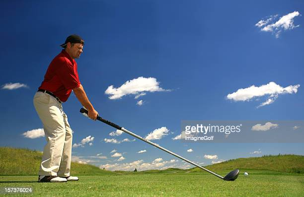 Male Golfer with Massive Oversize Driver