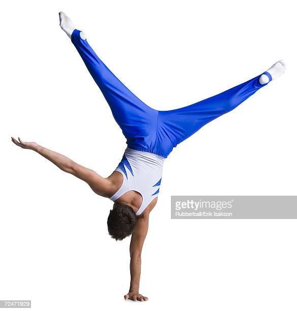 Male gymnast doing floor exercises