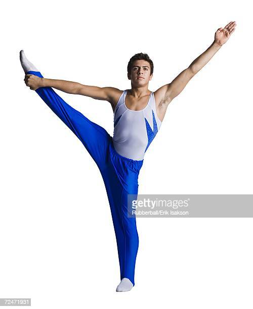male gymnast doing floor exercises - gymnastique au sol photos et images de collection
