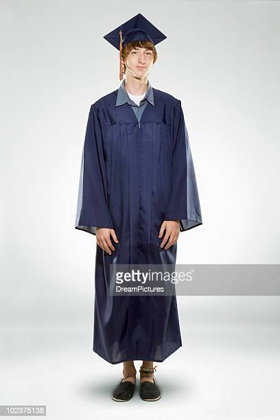 male high school graduate - graduation clothing stock pictures, royalty-free photos & images