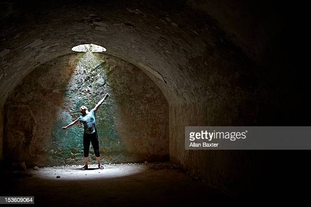 male in dungeon - dungeon stock photos and pictures