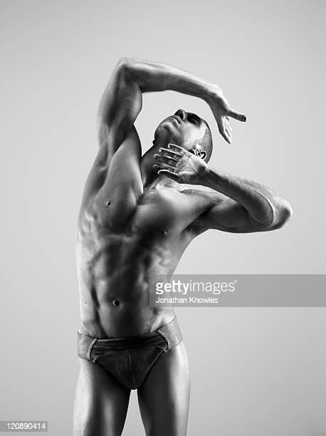 Male in paint posing