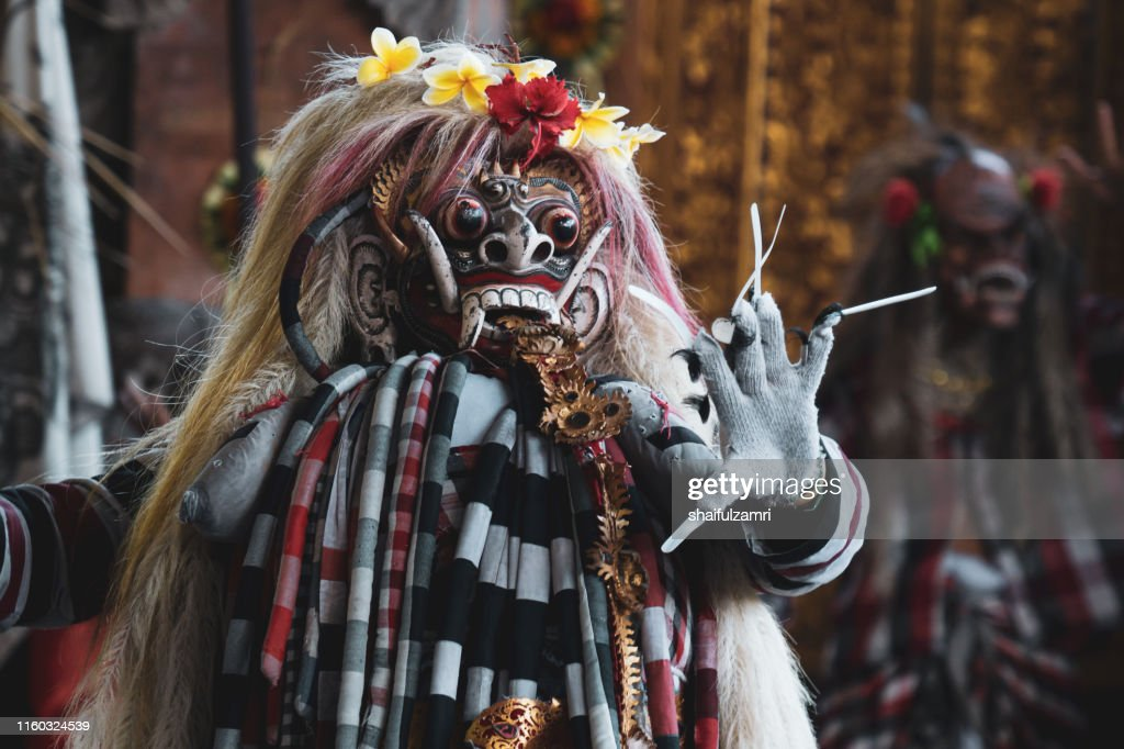 Male in traditional cloth for Barongan dance : Stock Photo