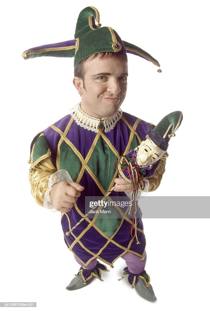 Male jester portrait  Stock Photo  sc 1 st  Getty Images & Male Jester Portrait Stock Photo | Getty Images