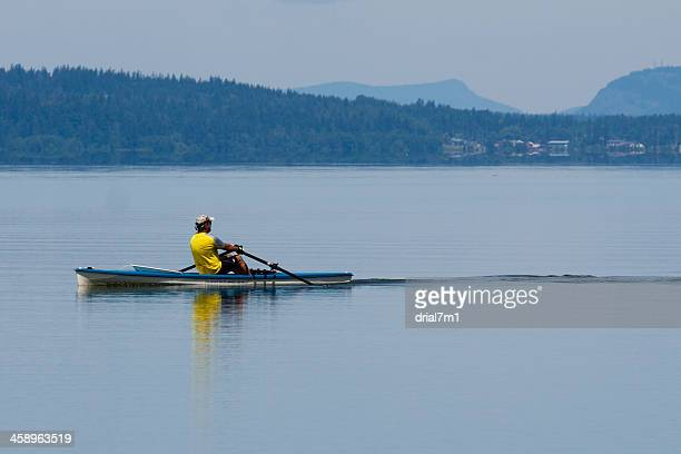 male kayaker - puget sound stock pictures, royalty-free photos & images