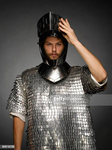 Male Knight Tipping Helmet