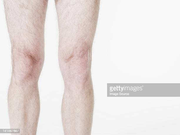 male legs - hombre desnudo fondo blanco fotografías e imágenes de stock
