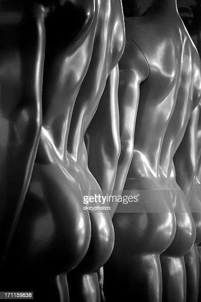 male mannequin's back - beautiful bare bottoms stock pictures, royalty-free photos & images