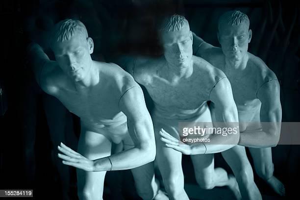 Male Mannequins Running.