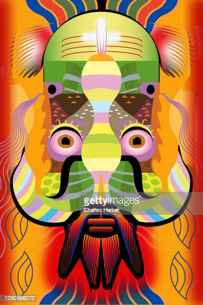 male mask close up - magic eye stock pictures, royalty-free photos & images