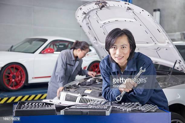 Male Mechanic in Auto Repair Shop