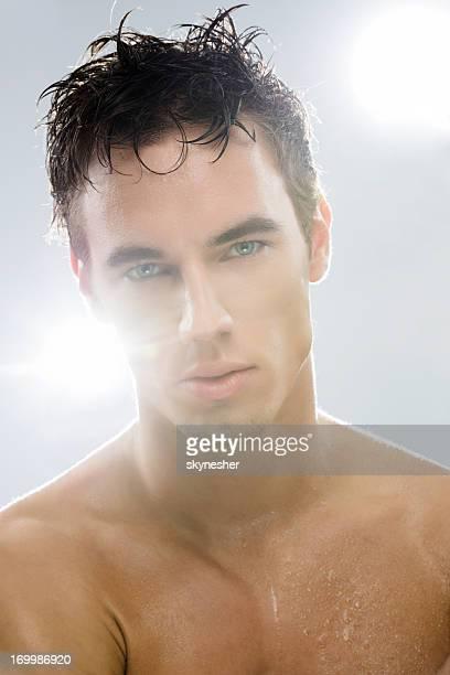Male model after shower!