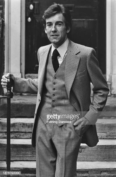 Male model wearing a three piece suit, UK, 11th September 1974.