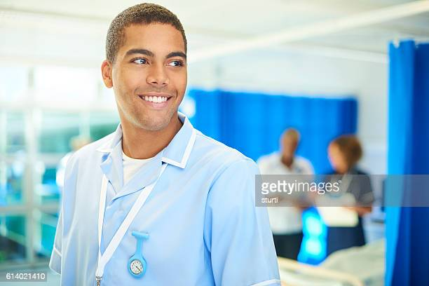 male nurse portrait