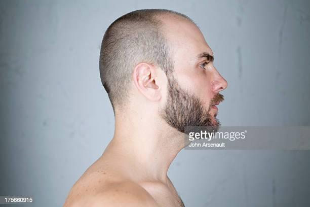 Male, portrait, identity, studio, real person