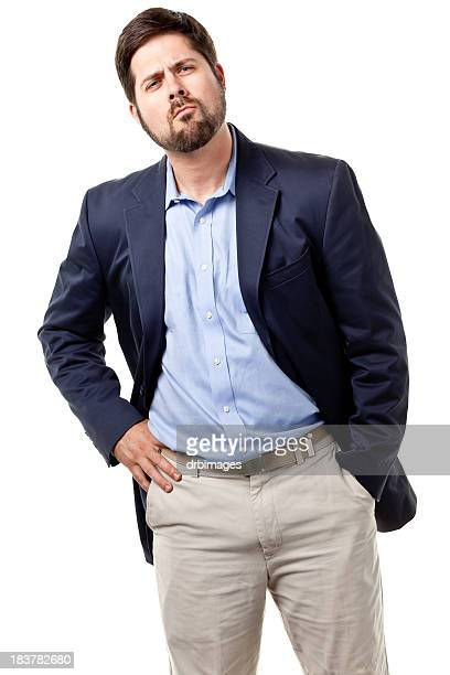 male portrait - blue blazer stock pictures, royalty-free photos & images