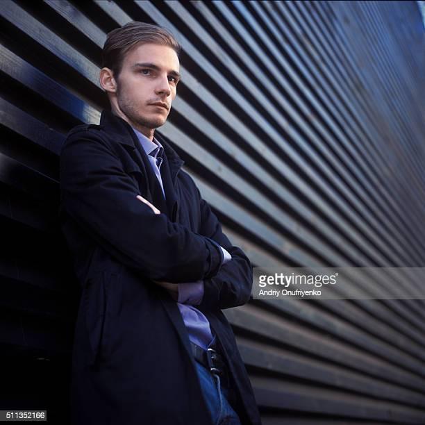 male portrait - philosopher ストックフォトと画像
