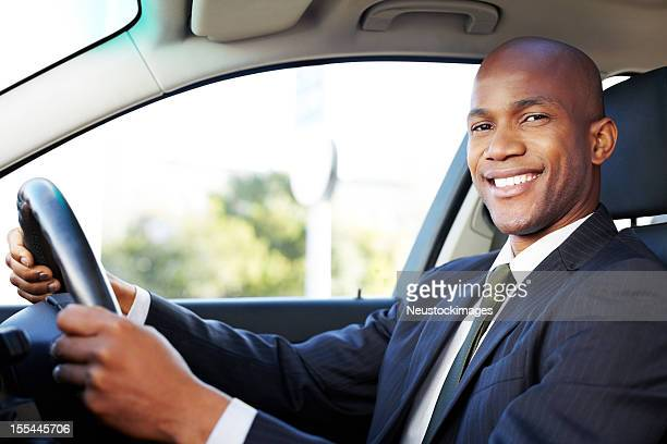 Male Professional Driving Car