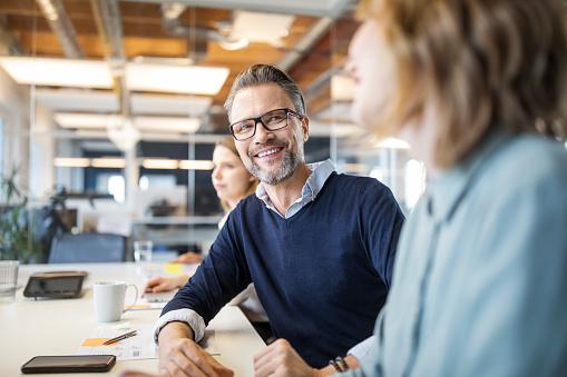 Male professional in board room meeting - gettyimageskorea