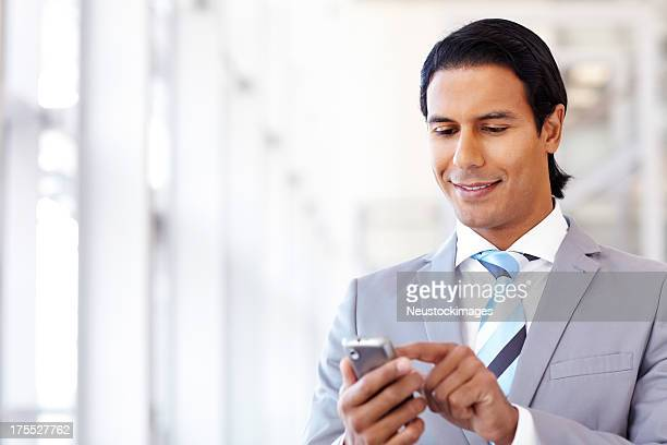 Male Professional Typing Text Message